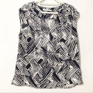 Trina Turk Sleeveless Blouse Size Medium